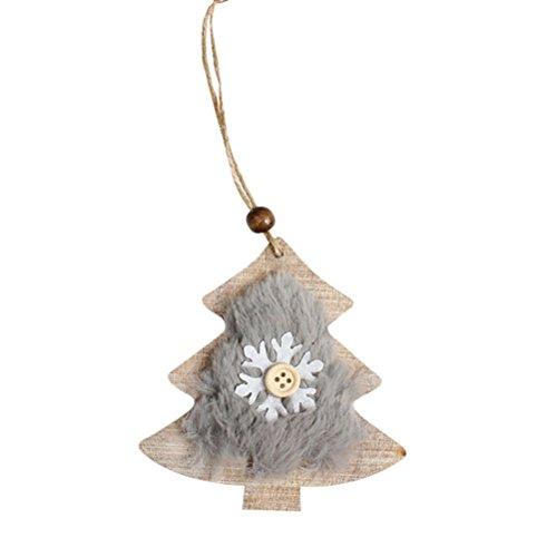 ODJOY-FAN Weihnachten Hölzern Fühlte Anhänger Schneeflocke Holz Verzierungen Rustikal Weihnachten Baum Hängend Ornament Dekor 10 x 9 x 0.3cm(A,1 PC)