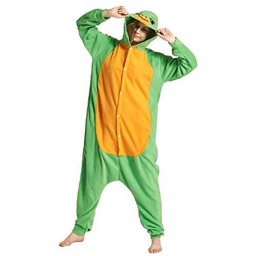 Pyjamas Herren Bekleidung Animal Erwachsene Unisex Schlafanzüge Karneval Onesies Schildkröte Cosplay Jumpsuits Anime Carnival Spielanzug Kostüme Weihnachten Halloween Nachtwäsche