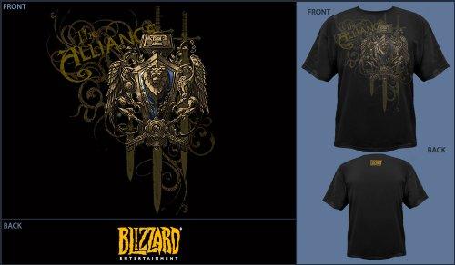 World of Warcraft T-Shirt Allianz Wappen Groesse S