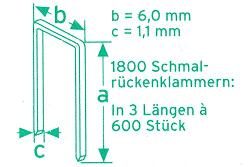 Nailsfactory 3000Stck pince agrafeuse électrique en 3 longueurs a 600 x 15/20/25 a 300 mm 4 longueurs x 15/20/25/32