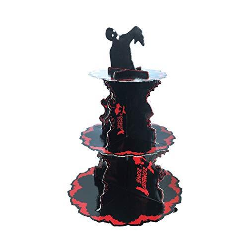 Halloween-Kuchen-Stand-Abnehmbarer dekorativer Kuchen-Stand-Nachtisch-Papierstand