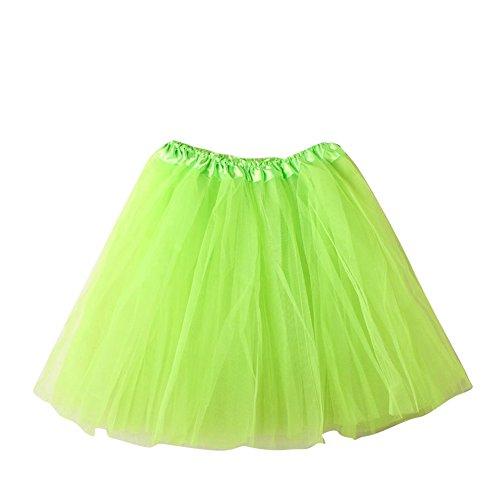 SaiDeng Mini Tutù Con Gonna In Organza Sottogonna Da Balletto, Da Donna, In Tessuto Multistrato (Increspato Petticoat)