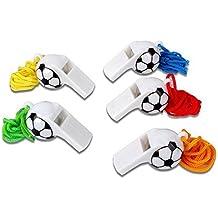 Schiedsrichterpfeife 10 x Trillerpfeife Kunststoff Pfeife in Fußballform