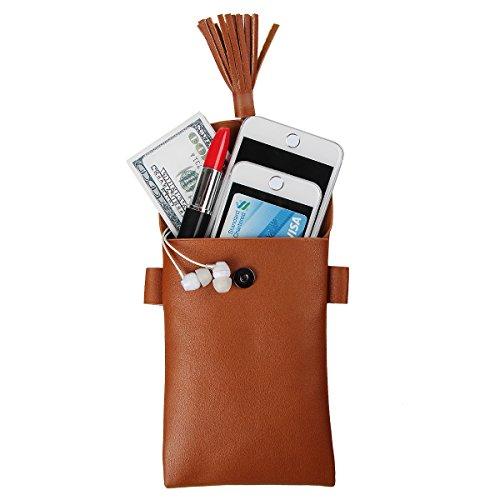 xhorizon TM Quaste Einzelschultertasche Handytasche aus PU Leder mit Stilvoll fuer iPhone 7/7plus/6s/6plus, Samsung, HUAWEI P8/P9/P8lite/P9lite und andere unter 6 zoll grau
