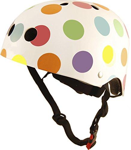 Kiddimoto Kids Helmet - Pastel Dotty, 53-58 cm (Bell Mädchen Für Helm Fahrrad)