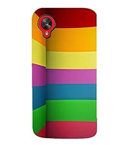 EPICCASE Rainbow fold Mobile Back Case Cover For LG Google Nexus 5 (Designer Case)