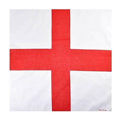 Saint George, England Cotton Bandana, 55x55cm Head Scarf White