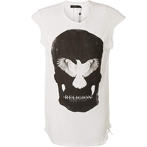 Religion Damen T-Shirt Inverted Tee 59BIVT62 White/Black/Weiß, L