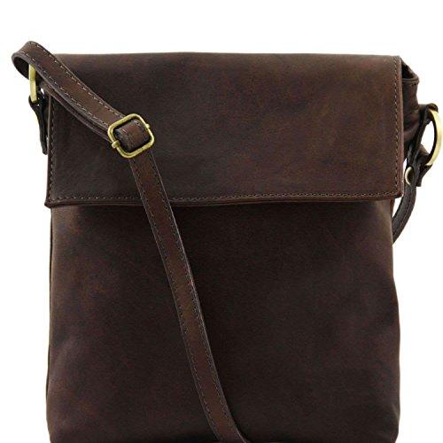Tuscany Leather - Morgan - Sac bandoulière en cuir - Marron foncé