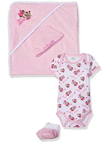 Disney Baby-Mädchen Body Minnie, Rosa, Neugeboren (Baby-mädchen Disney)