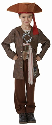 Kostüme Sparrow Jack Kind (Fluch der Karibik Kinder Kostüm Pirat Jack Sparrow 7 bis 9)