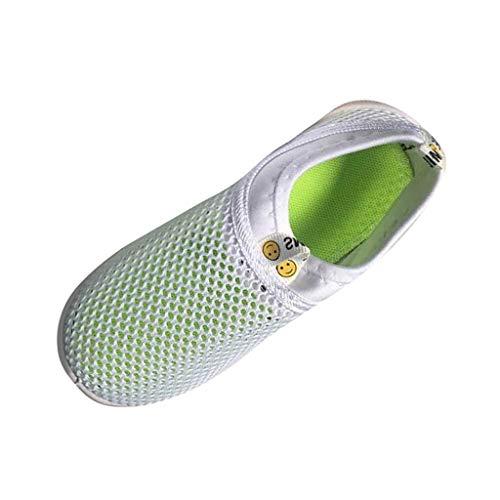 Süßigkeiten Mädchen Sandalen (Kinder Schuhe OYSOHE scherzt Baby Mädchen Schuhe Süßigkeit Farben Gewebe Maschen zufällige Sport Turnschuhe (23 EU, Weiß))