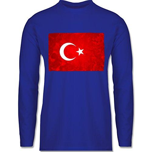 Länder - Flagge Türkei - Longsleeve / langärmeliges T-Shirt für Herren Royalblau
