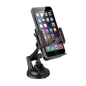 ec technology support t l phone voiture universel ventouse coll solide sur pare brise et. Black Bedroom Furniture Sets. Home Design Ideas