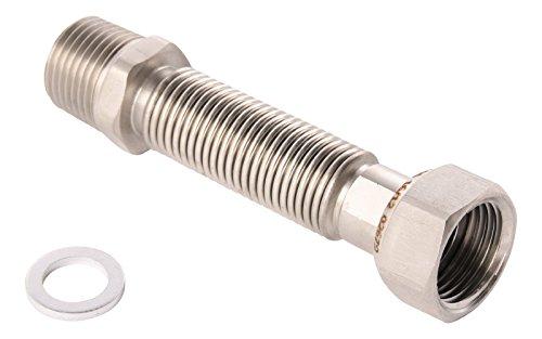 Edelstahl Flexrohr (Sanitop-Wingenroth 27010 6 Edelstahl Flexrohr, 1/2 Zoll | 75-130 mm)