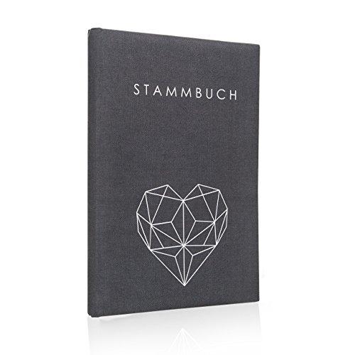 Hochzeitideal Stammbuch der Familie Geometric grau