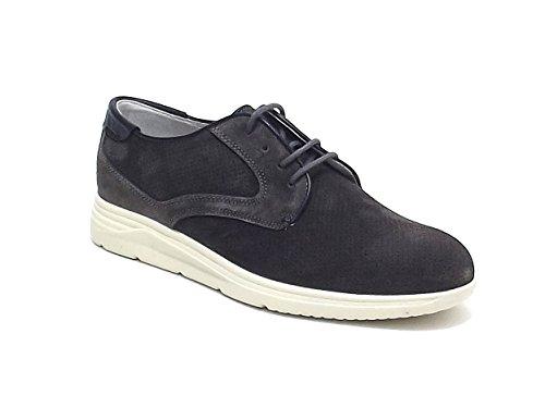 Soldini uomo, modello 19817, sneakers in camoscio, colore grigio