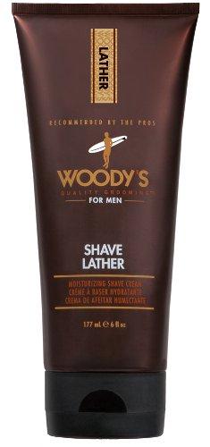 Woody's Shave Lather 177 ml Selbstschäumende & feuchtigkeitsspendende Rasiercreme -
