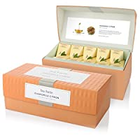 Tea Forte Presentation Box with 20 Handcrafted Pyramid Tea Infusers - Chamomile Citron Herbal Tea