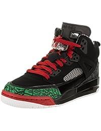Jordan Nike Kids Spizike BG Black Varsity Red Basketball Shoe 4 Kids US 40f63e6c9
