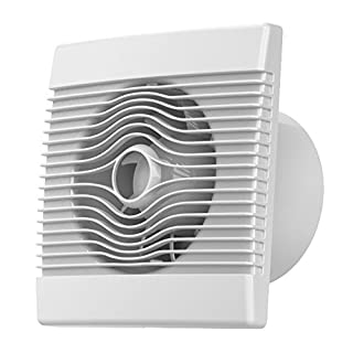 Premium Kitchen Bathroom Wall High Flow Extractor Fan 150mm with Pull Cord by Airroxy