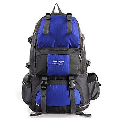 50 L Rucksack Camping & Wandern Reisen tragbar Atmungsaktiv Feuchtigkeitsundurchlässig Blue