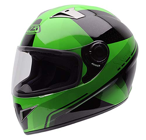 Preisvergleich Produktbild NZI Vital Grafik Volles Gesicht Motorradhelm,  Glanz X Vit Fluo Grün,  Größe M