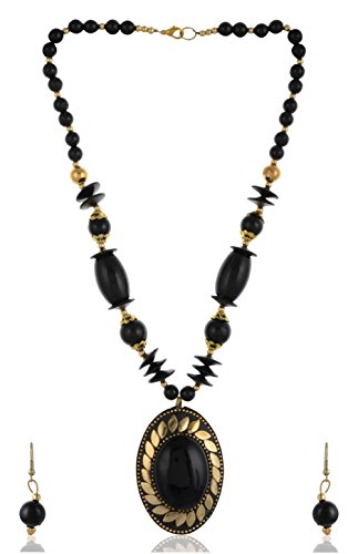 Stunning Queen Gold & Black Handcrafted Necklace for girls fancy Wear  available at amazon for Rs.349
