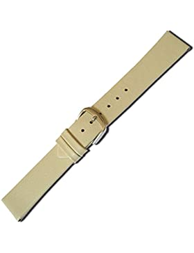 Herzog Design I Ersatzband Uhrenarmband Kalbsleder Band Creme 20514G, Stegbreite:18mm