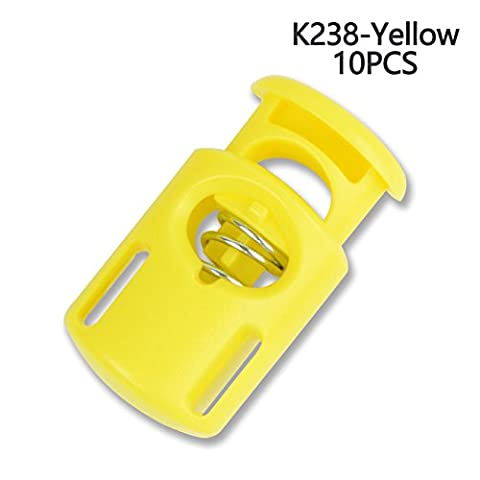 Kunststoff Cord Locks End Frühling Stopp Toggle Pfropfen Mehrfarbig, gelb