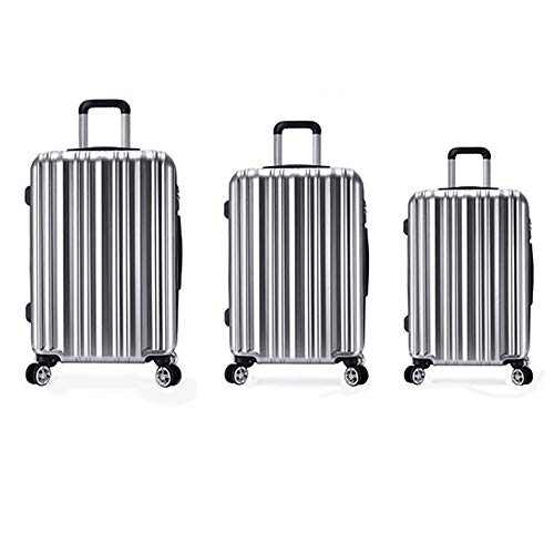 Vergrößerbares Gepäck 20in 24in 28in Gepäck 3-teiliges Set Koffer Spinner Hardshell Leichte, verschachtelte Sets Carry-on Uprights Koffer 360 ° Silent Spinner Multidirektionale Räder für Männer Frauen (Samsonite Luggage Lock Set)