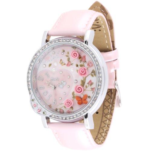 Oh My Lady * Innovative 3D Miniatur, Rosa Rosen, Schmetterlinge, Herzen, Romantic Valentine Motto High Tech Wasserdicht Armbanduhr mit feinen Handwerk Ton Art–in Geschenkverpackung (Mini-uhr Herz)
