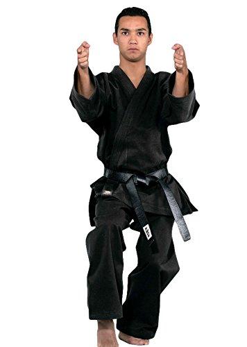 Kwon Karate Anzug Traditional schwarz 12 Oz Farbe: Schwarz, Grösse: 180 cm