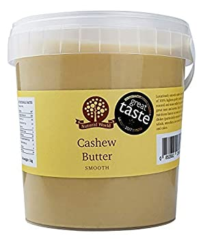 Nutural World - Beurre de noix de cajou onctueux (1kg) Vainqueur des Great Taste Awards