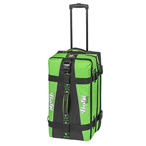 BoGi Bag Reisetasche Rollkoffer Reisekoffer Koffer, 72 cm, 85 L, Schwarz/Grün Preisvergleich