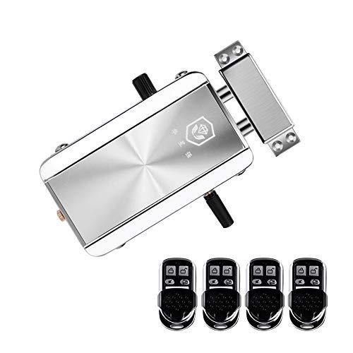 Catherinol Home Door Lock Kit Fernbedienung Keyless Entry Elektronisches Schloss Smart Wireless Anti-Theft Deadbolt Zugangskontrollsystem für Home Hotel Apartment (Keyless-entry-tür-kit)