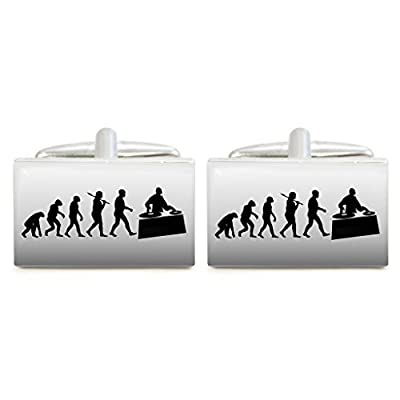 Evolution of a DJ Design Cufflinks in Gift Box