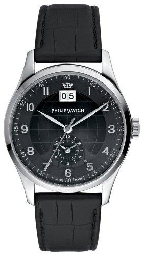 Philip Watch R8251141225 - Orologio da polso unisex, acciaio inox, colore: nero