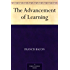 The Advancement of Learning (English Edition)