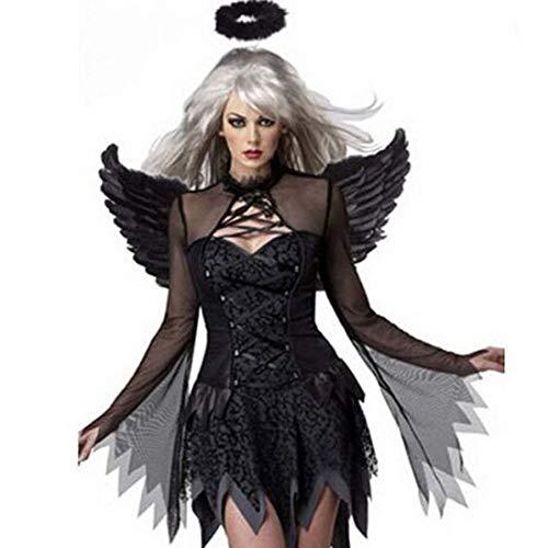 KLAWQ Europäische und amerikanische Halloween Leiche Braut Kostüm Weibliche Geister Phantom Zombie Uniform Uniform Vampir Dämon Dark Angel - Vampir Angel Kostüm