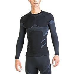 Xaed Camiseta Termica Interior, Hombre, Negro/Azul claro, M