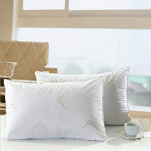 Hotel anti-¨¢caros y felpa plumas almohadas cuidado stereo almohada cervical cuello apoyo compresa de almohadas para dormir almohada
