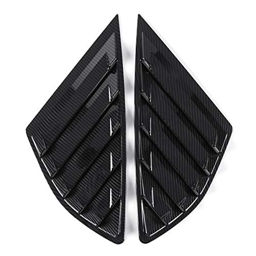 JenNiFer Car Rear Quarter Panel Side Vent Window Louvers Cover Für Ford Fusion Mondeo 4 Door-Carbon Pattern -