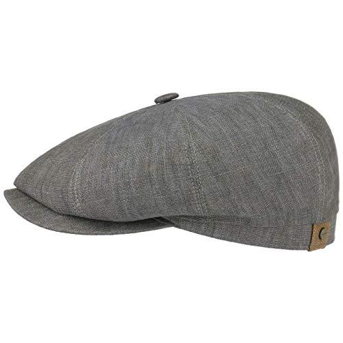 tcap Leinen Damen/Herren | Mütze mit Baumwollfutter | Flat Cap mit Sonnenschutz UV 40+ | Schirmmütze Frühjahr/Sommer | Ballonmütze Oliv 59 cm ()
