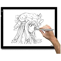 Huion A3 LED Touch ADJUSTABLE Illumination Lightbox Astronomy Flat Lightpad for Craft Design Photo Tracing