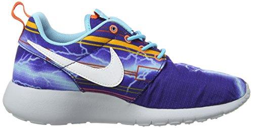 Nike Roshe One Print (gs), Sports en extérieur femme Deep Royal Blue/White-Unversity