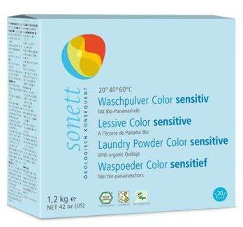 Sonett Waschpulver Color Sensitiv: Mit Bio-Panamarinde und reiner Bio-Pflanzenseife, 1.2 kg