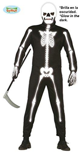 Leuchtet Im Dunkeln Skelett Kostüm - Skelett 'Leuchtet im Dunkeln', Erwachsene, Grösse L