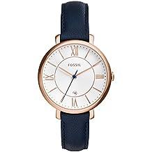 Fossil damen armbanduhr georgia leder blau varta edition