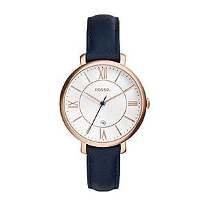 Fossil Damen Analog Quarz Uhr mit Leder Armband ES3843